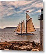 Keeping Vessels Safe Metal Print by Karol Livote