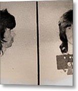 Keith Richards Mugshot - Keith Don't Go Metal Print by Bill Cannon