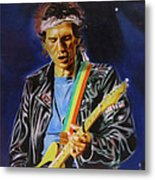 Keith Richards Of Rolling Stones Metal Print
