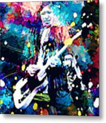 Keith Richards Metal Print by Rosalina Atanasova