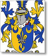 Kenney Coat Of Arms Irish Metal Print