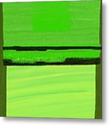 Kensington Gardens Series Green On Green Oil On Canvas Metal Print