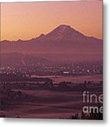 Kent Valley With Mount Rainier Metal Print