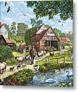 Kentish Farmer Metal Print