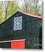 Kentucky Barn Quilt - 2 Metal Print