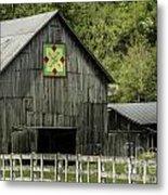 Kentucky Barn Quilt - 3 Metal Print