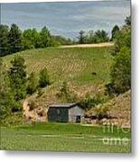 Kentucky Barn Quilt - Americana Star 2 Metal Print
