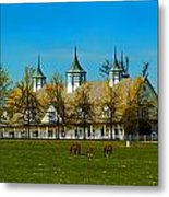 Kentucky Horse Barn Hotel Metal Print