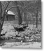 Kentucky Snow Metal Print