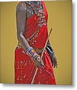 Kenya Warrior Metal Print