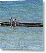 Kenyan Fishermen Metal Print