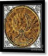 Kerosene Lamp - Brass Etching Metal Print