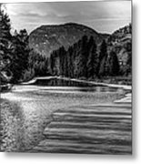 Kettle Black And White Metal Print