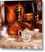 Kettle -  Have Some Tea - Chinese Tea Set Metal Print