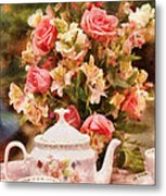 Kettle - More Tea Milady  Metal Print