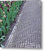 Keukenhof Gardens Panoramic 24 Metal Print