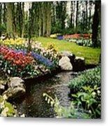 Keukenhof Tulip Gardens Metal Print