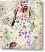 Kevin Durant In Color Metal Print by Aged Pixel