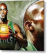 Kevin Garnett Artwork 1 Metal Print