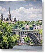 Key Bridge And Georgetown University Metal Print