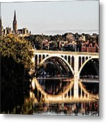 Key Bridge And Georgetown University Washington Dc Metal Print