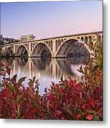 Graceful Feeling - Washington Dc Key Bridge Metal Print