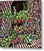 Key West Garden Club Pots Metal Print