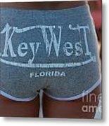 Key West Hot Pants At The Beach Metal Print