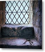 Keys On Stone Windowsill Metal Print