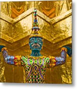 Khon Guard Metal Print