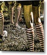 Kickball Socks Metal Print