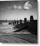 Kicked In The Groyne Metal Print