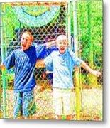Kids And The Train 2 Metal Print