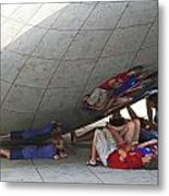 Kids At The Bean Metal Print