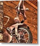 Kids Pedal Trike On Shelf Metal Print
