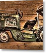 Kids Toy Pedal Tractor On Shelf Metal Print