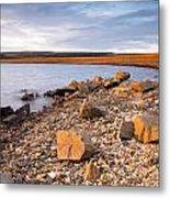 Kielder Dam In Low Sun Metal Print