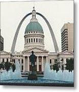 Kiener Plaza - St Louis Missouri Metal Print