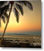 Kihei Palm Sunrise Metal Print