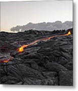 Kilauea Volcano 60 Foot Lava Flow - The Big Island Hawaii Metal Print