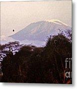 Kilimanjaro In The Morning Metal Print