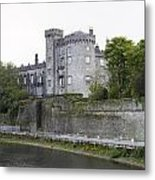 Kilkenny Castle Seen From River Nore Metal Print