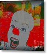 Killer Clowns In Fresco Metal Print