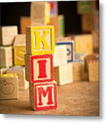 Kim - Alphabet Blocks Metal Print