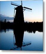 Kinderdijk Dawn Metal Print