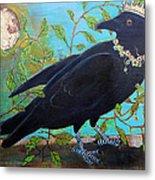 King Crow Metal Print