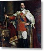 King Edward Vii Of England (1841-1910) Metal Print