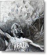 King James Lebron Metal Print by Ylli Haruni