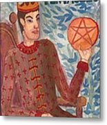 King Of Pentacles Metal Print