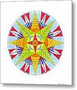Kingdom Mandala Metal Print